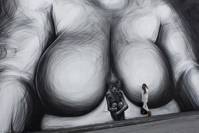Street art by Greek artist iNO in Miami, Florida for Art Basel 2013. 1