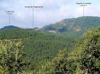 Vista de les serres que envolten L'Estany des del Coll d'Irana