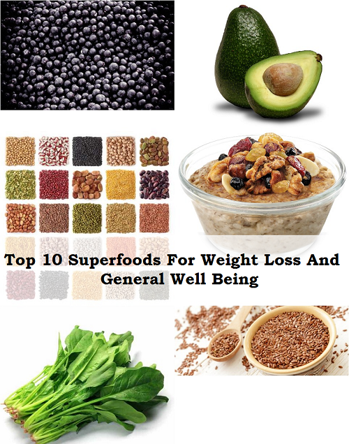 Top 10 Superfoods For Weight Loss and General Well Being