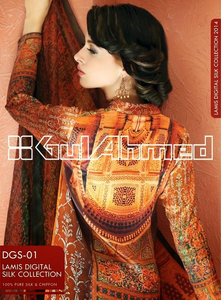 GulAhmedLamisDigitalSilkCollection2014 wwwfashionhuntworldblogspotcom 02 - Gul Ahmed Lamis Digital Silk Collection 2014