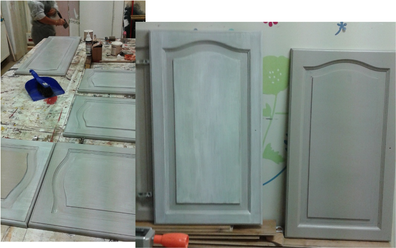 Peinture sur meuble r novation cuisine gamme voile du for Peinture renovation meuble cuisine