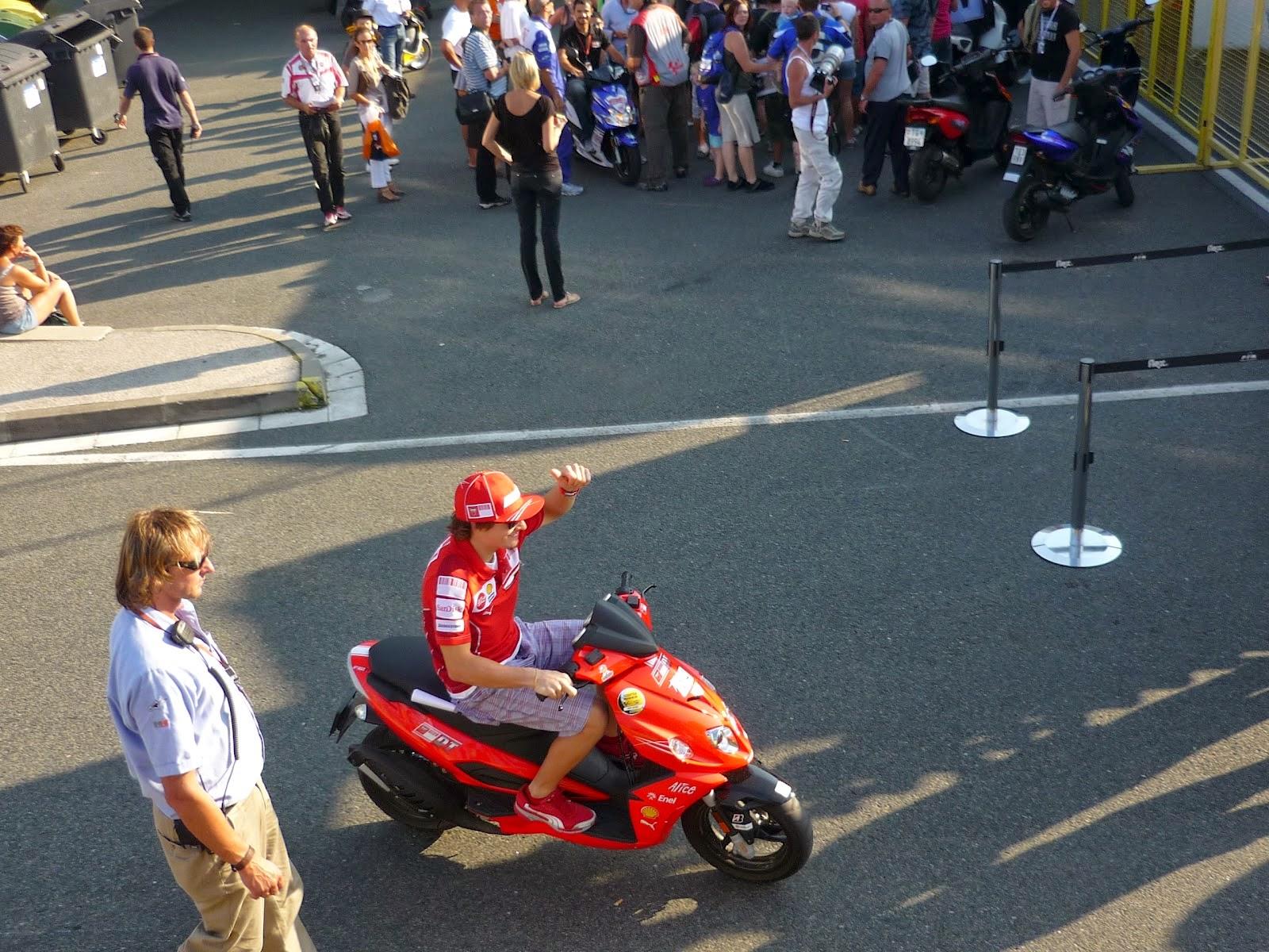 nicky hayden en el circuito de Brno