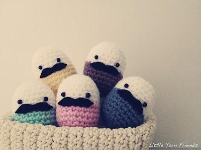 free crochet pattern amigurumi egg with mustache
