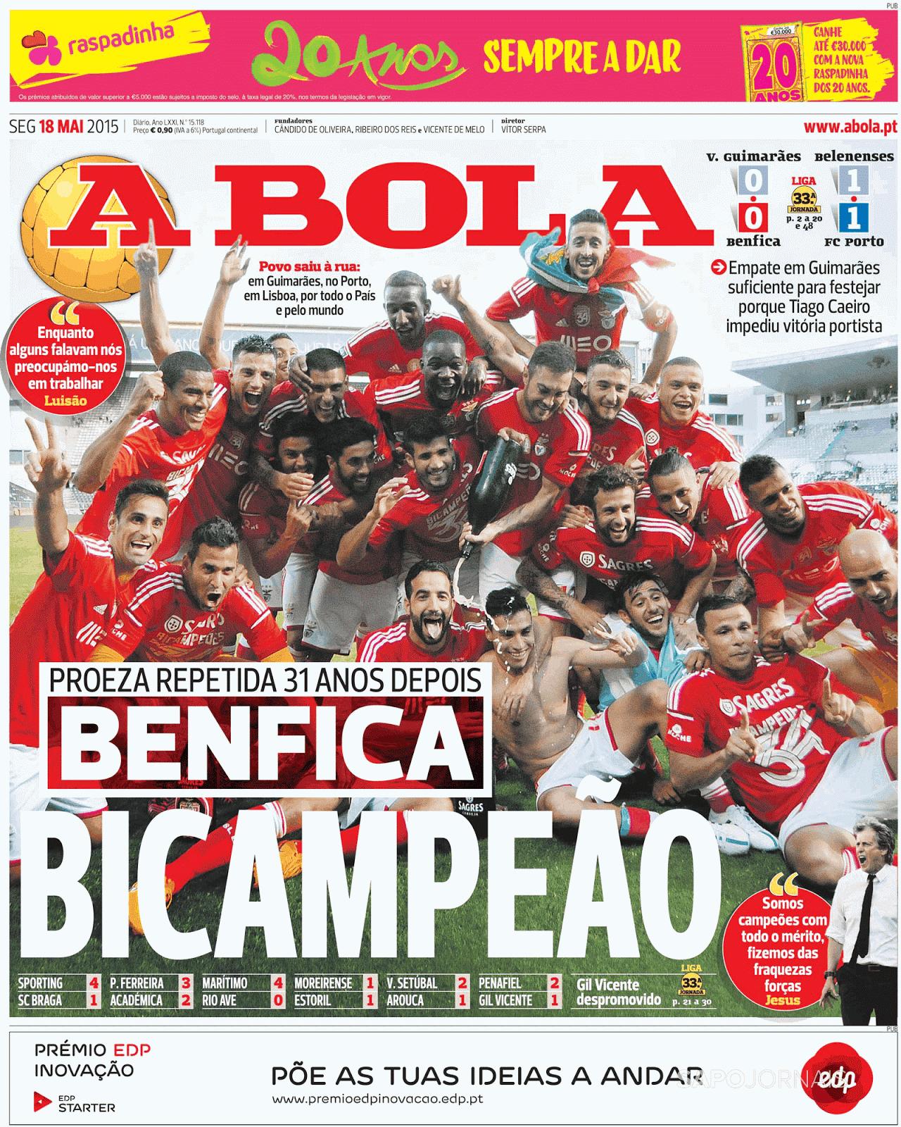 Benfica Bicampeão 14*15