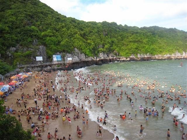 bãi tắm Cát Cò đảo Cát Bà