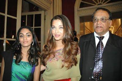 Aishwarya Rai with her father