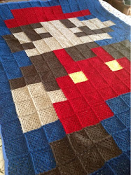 Isaac&#39;s Crochet Mario Blanket