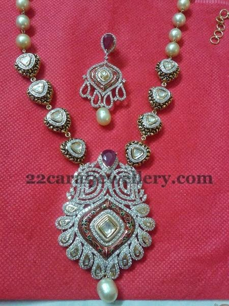 Black Rhodium Gold and Diamond Set