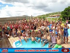 CERÂMICA CHICO DE KEKA COMEMOROU 10 ANOS DE EXISTÊNCIA