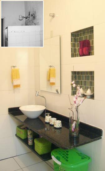 decoracao banheiro nicho : decoracao banheiro nicho:Casinha Bonitinha: Reforma _ antes e depois