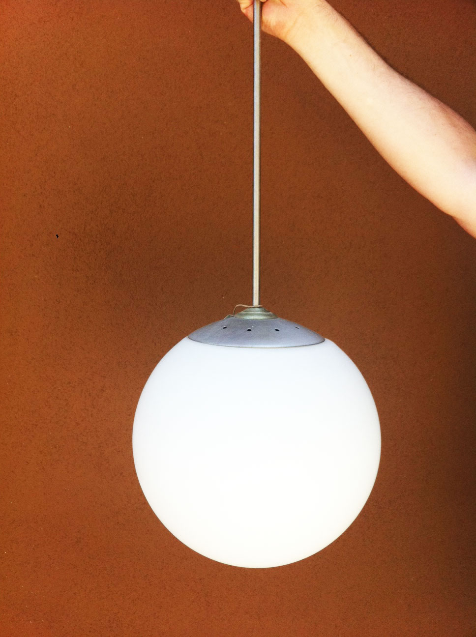 Junk2funk mid century modern globe pendant light fixture for Mid century modern light fixtures