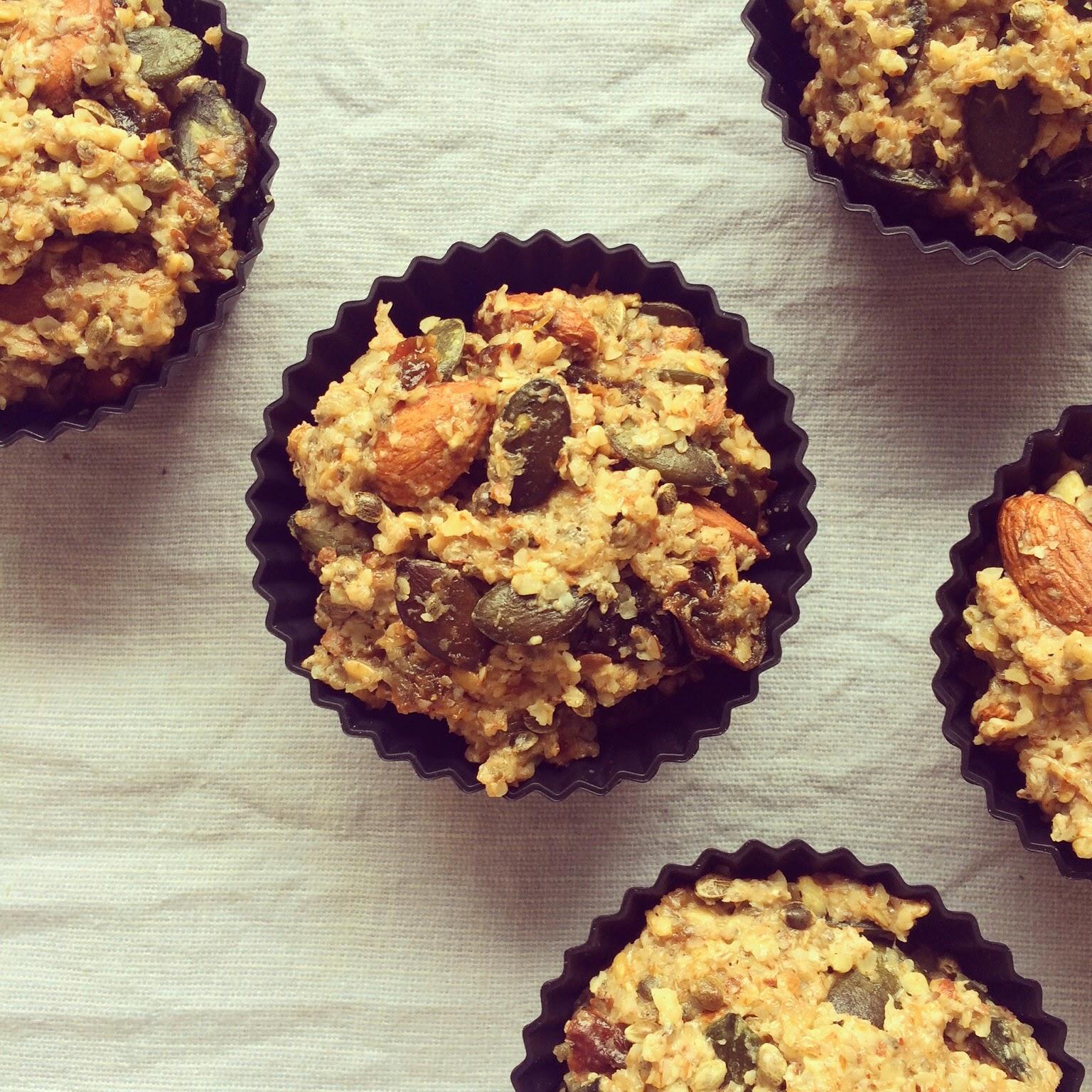 muffins graines noix pruneaux
