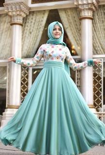 Model Gamis Maxi Dress untuk Lebaran