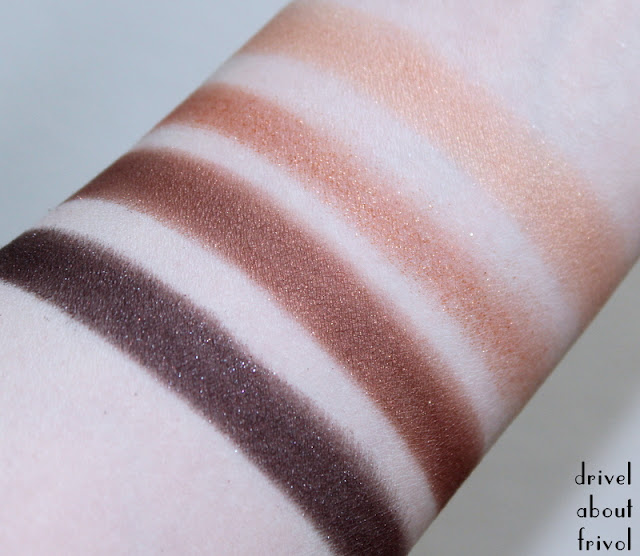 Tom Ford Cognac Sable Eyeshadow Quad palette swatches