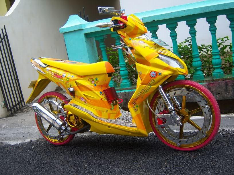 Contoh Modifikasi Honda Beat title=