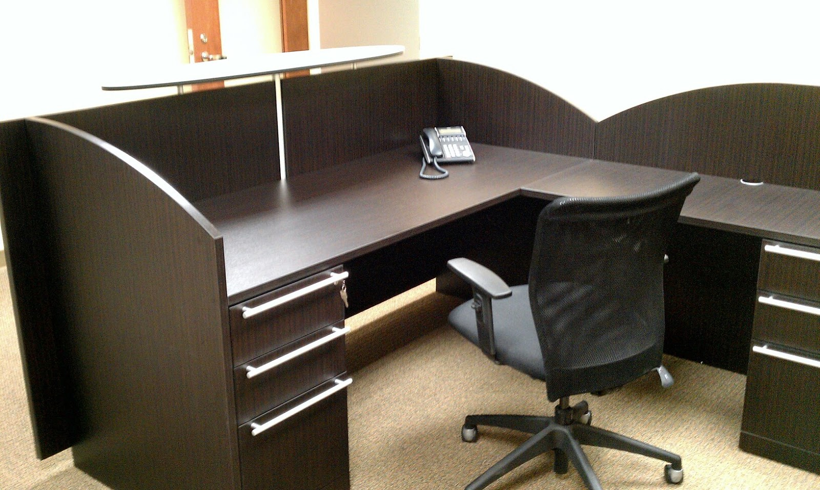 1source Office Furniture Bamm Boo Reception Counter
