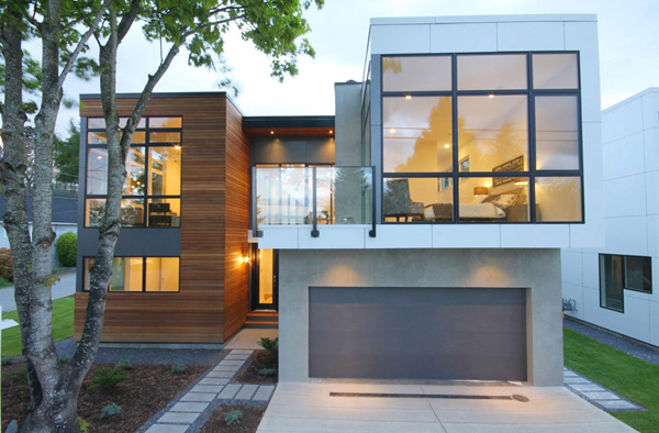 Leed platinum sustainable prefab home modern prefab for Home designs vancouver