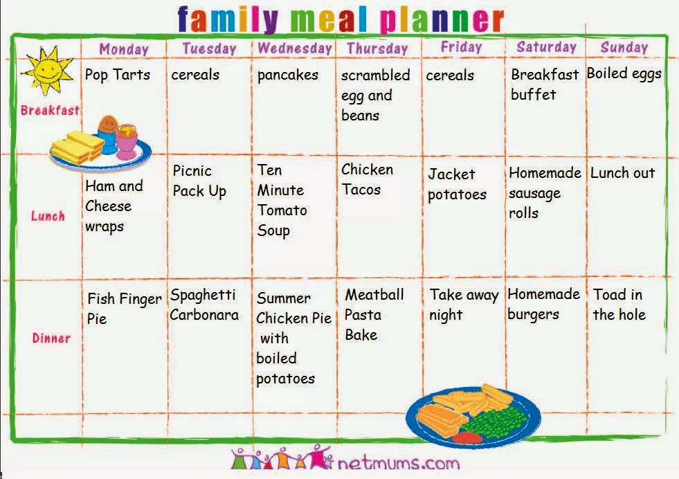 Meal Planner Template Search Results Calendar 2015