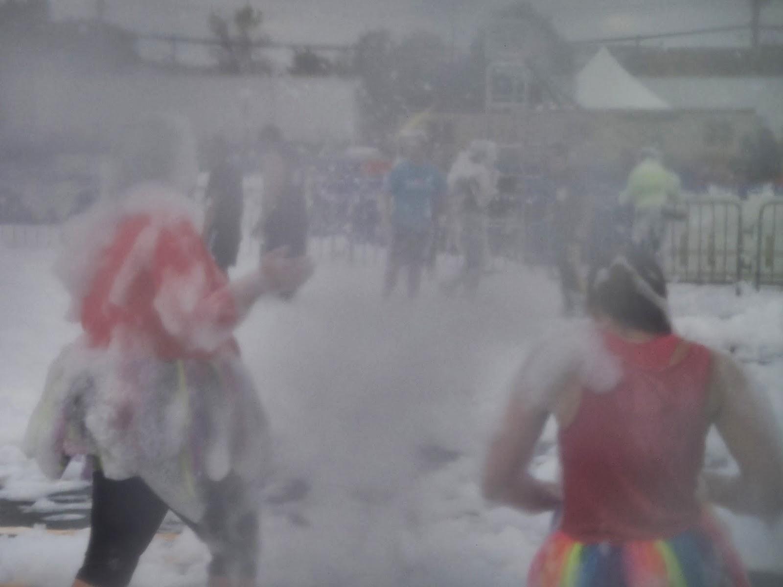 Ridiculous obstacle race foam machine