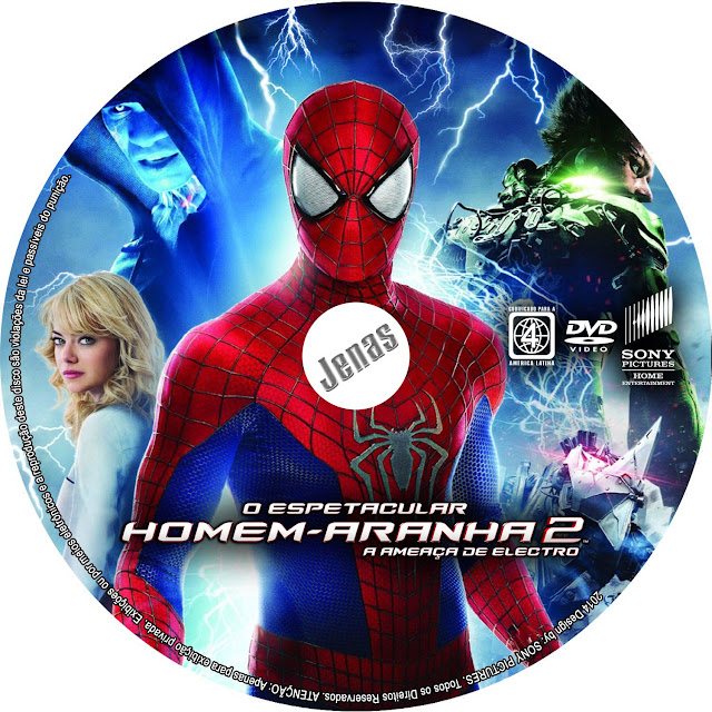 Label DVD O Especular Homem-Aranha 2 A Ameaça De Electro
