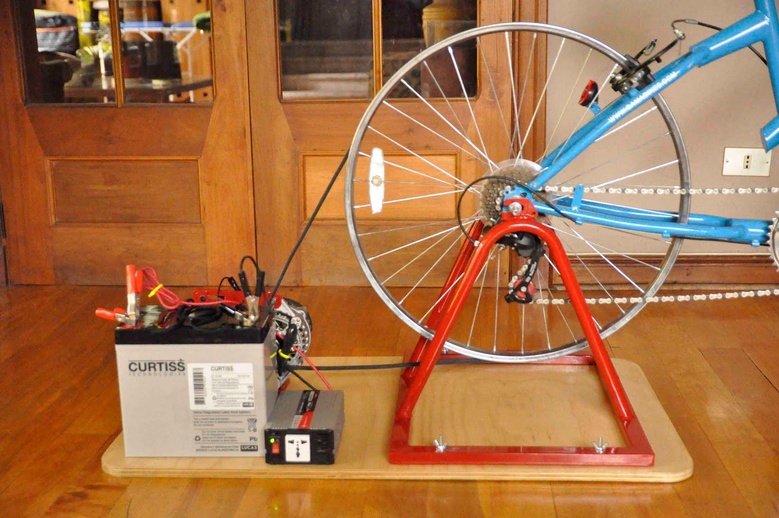 Cargar bateria en casa pedaleando. 1
