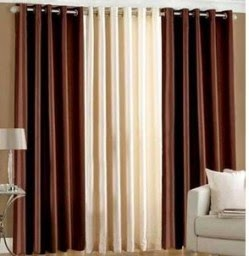 Buy Solid Coloured Curtain Set Of 4 at Rs.360 only, after cashback