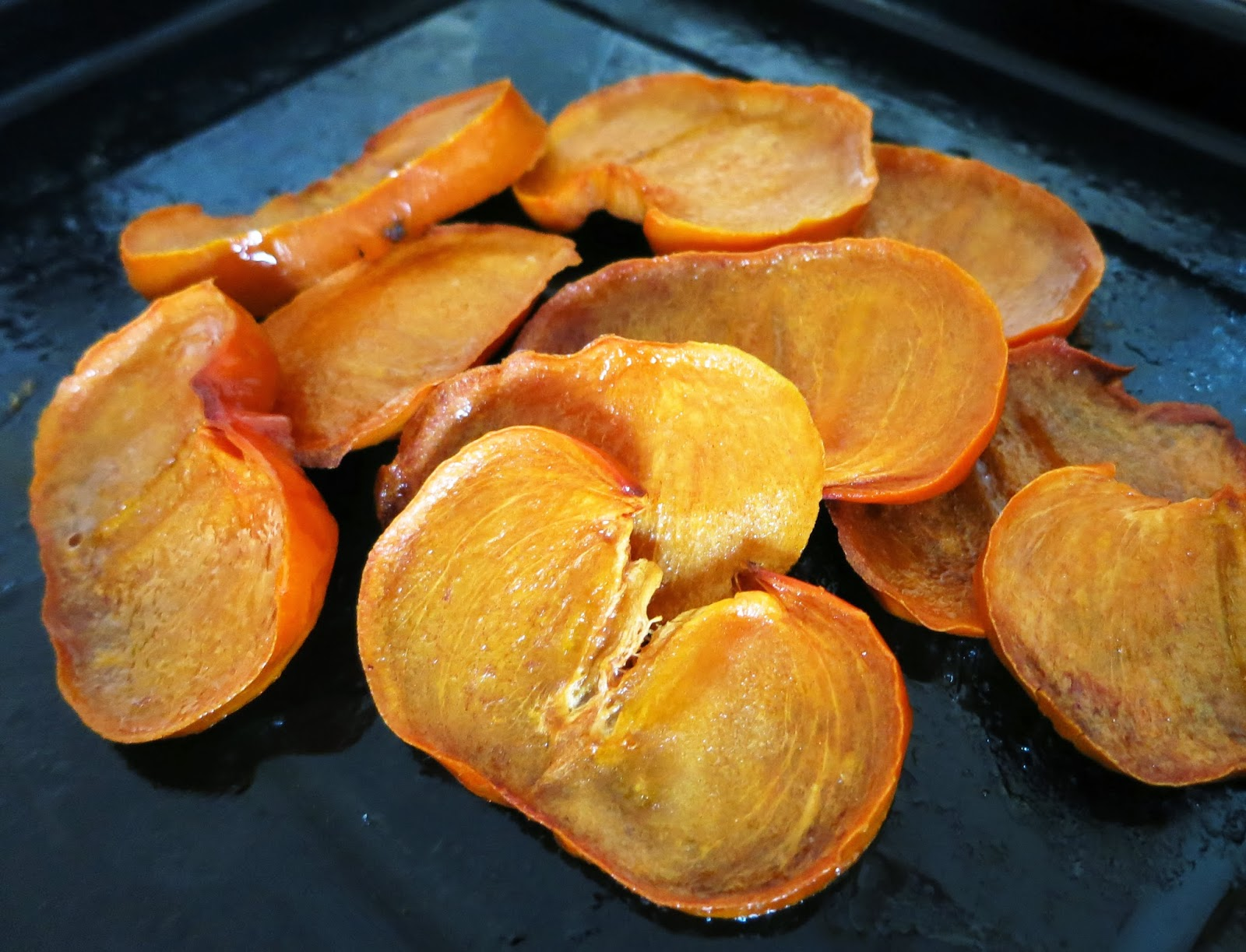 Honey Roasted Persimmons