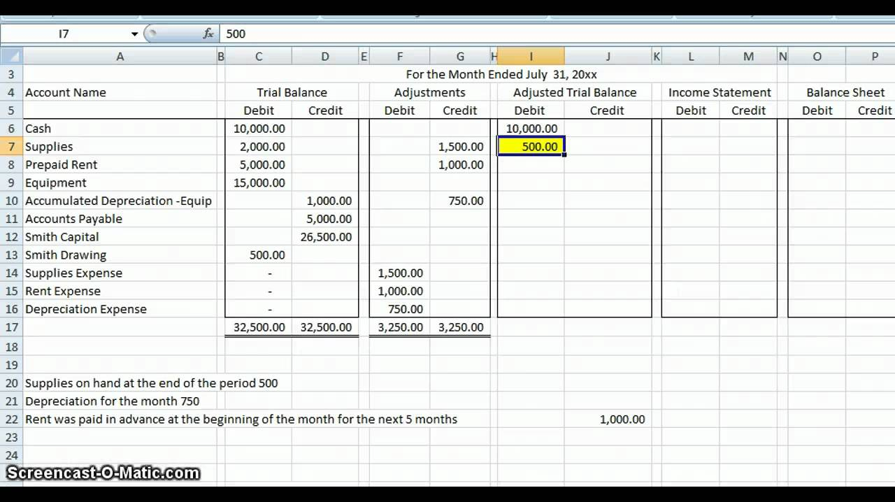 Example Of A Financial Worksheet : Accountant lamp picture accounting worksheet example
