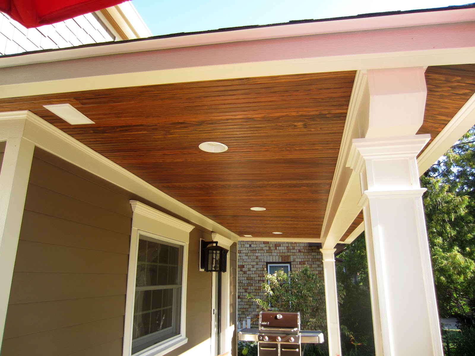The Pillars Are 100% Versatex PVC Trim And Will Never Rot And Rarely Need  Painting. They Compliment The Vintage Douglas Fir Tongue And Groove Porch  Ceiling ...