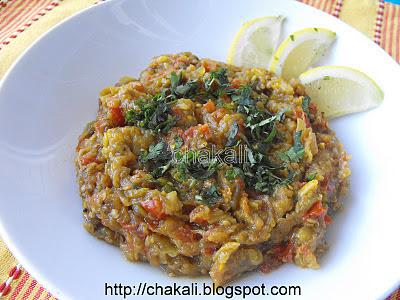 vangyache bharit, baingan bharta, bhurta recipe, eggplant bhurta