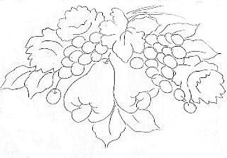 rosas,uvas e caju