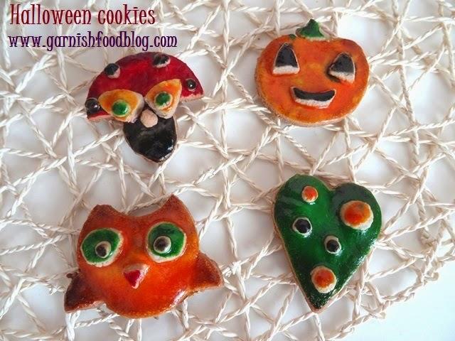 owl, pumpkin, mushroom halloween cookies