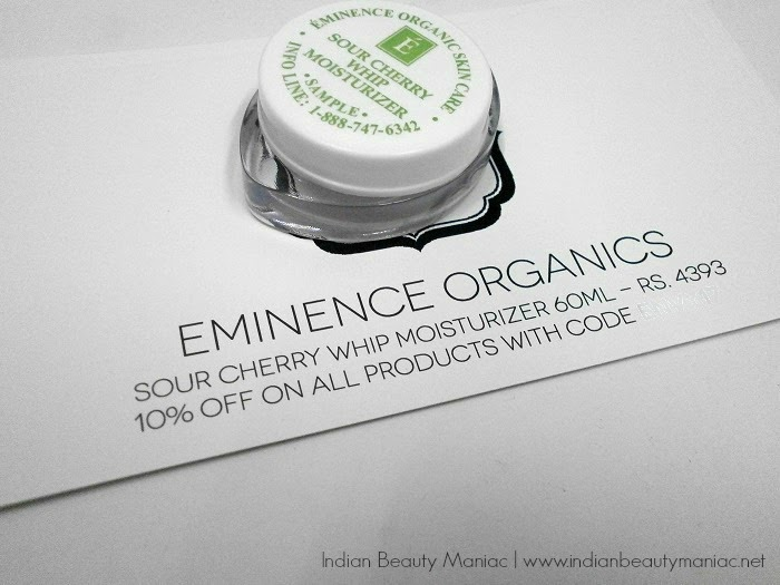 Eminence Organics Sour Cherry Whip Moisturizer sample review