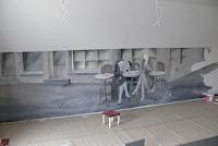 Malarstwo ścienne, aranżacja wnętrza, Warszawa