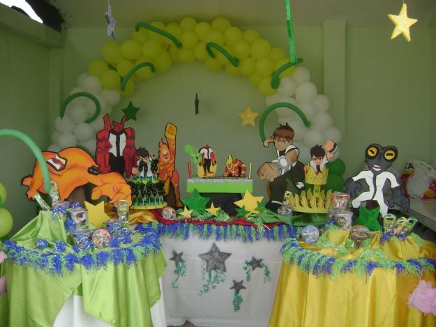 Decoraciónes de ben 10 para fiestas infantiles - Imagui