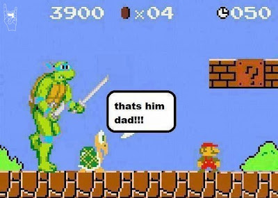 mario brothers ninja turtle video game funny