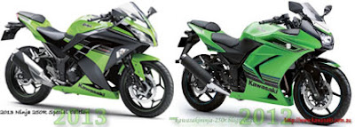 2013 Ninja 250 vs 2012 Ninja 250 - design comparison