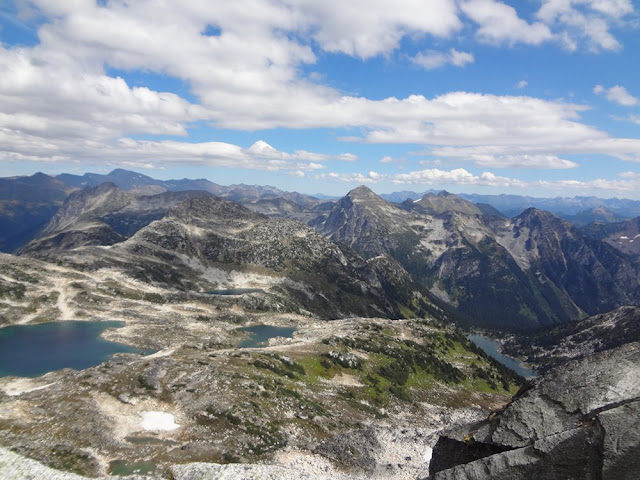 View from Summit of Mt. Gandalf, Tolkien Group, BC