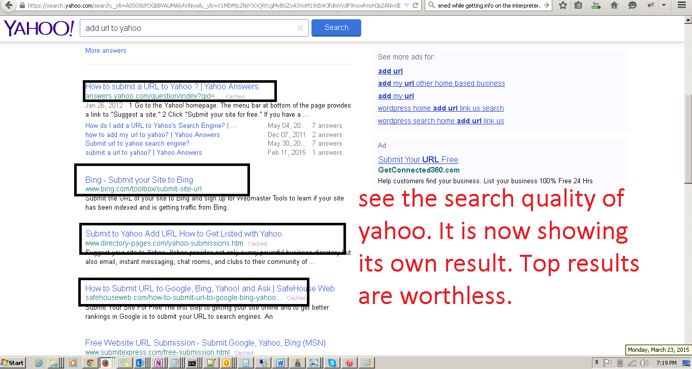 How to submit my site to yahoo search engine