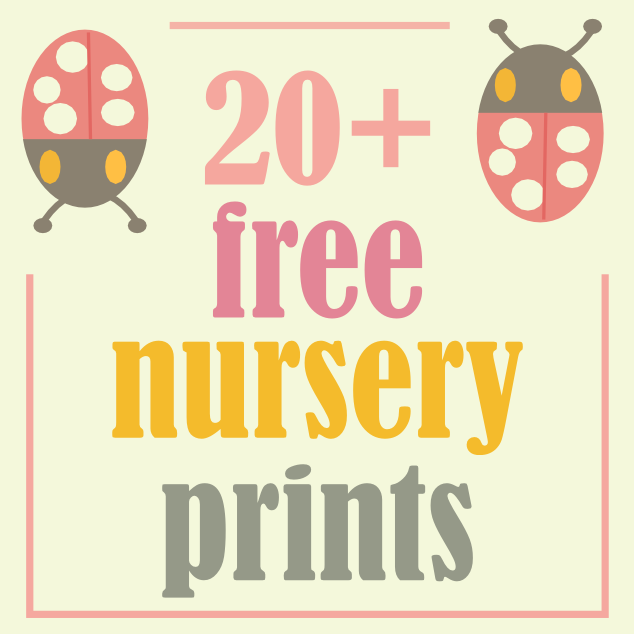 more than 20 free nursery printables kids room printables links