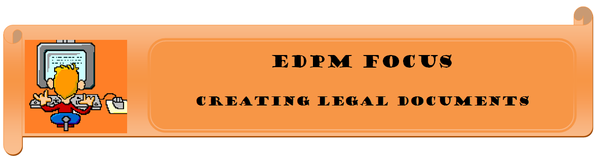EDPM Focus Types Of Legal Documents - Types of legal documents