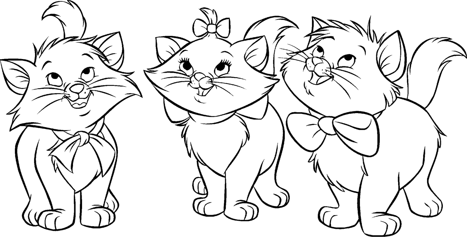 The Aristocats Coloring Page Tattoo Flash Characters Aristocats Coloring Page