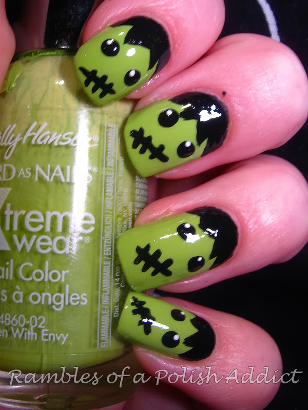 Frankenstein Nail Art + Pictorial | Rambles of a Polish Addict