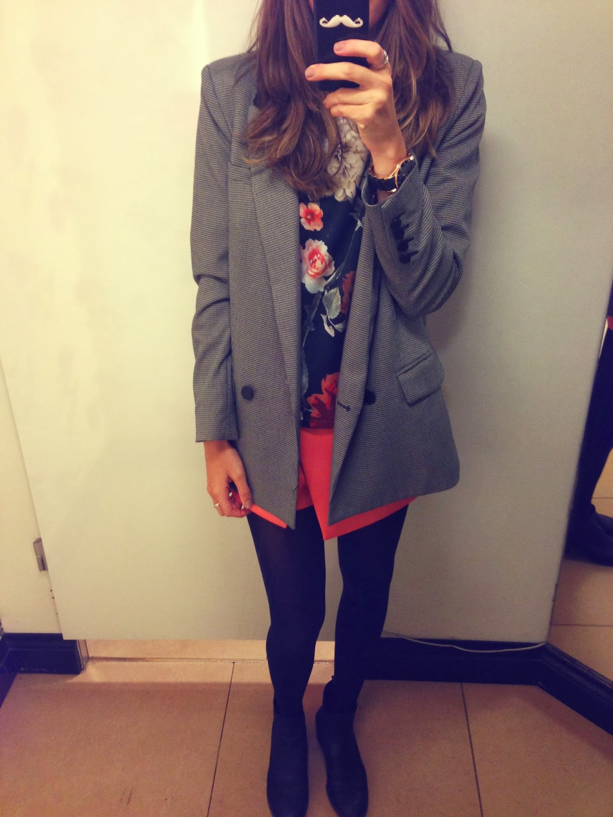 mango tweed blazer oversized