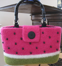 Felted Watermelon Tote PATTERN