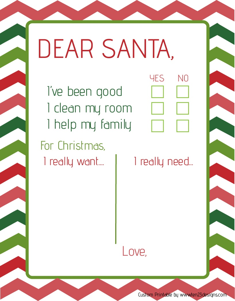 free printable letter from santa template - ten23 designs dear santa printable