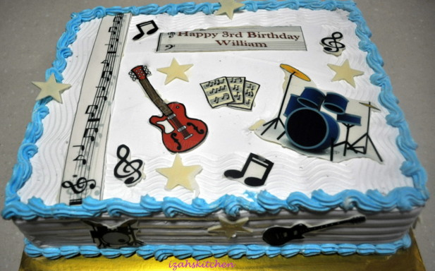 Cake Decorations Musical Instruments : My first attempt at MMF cake. Brownie covered in MMF for ...