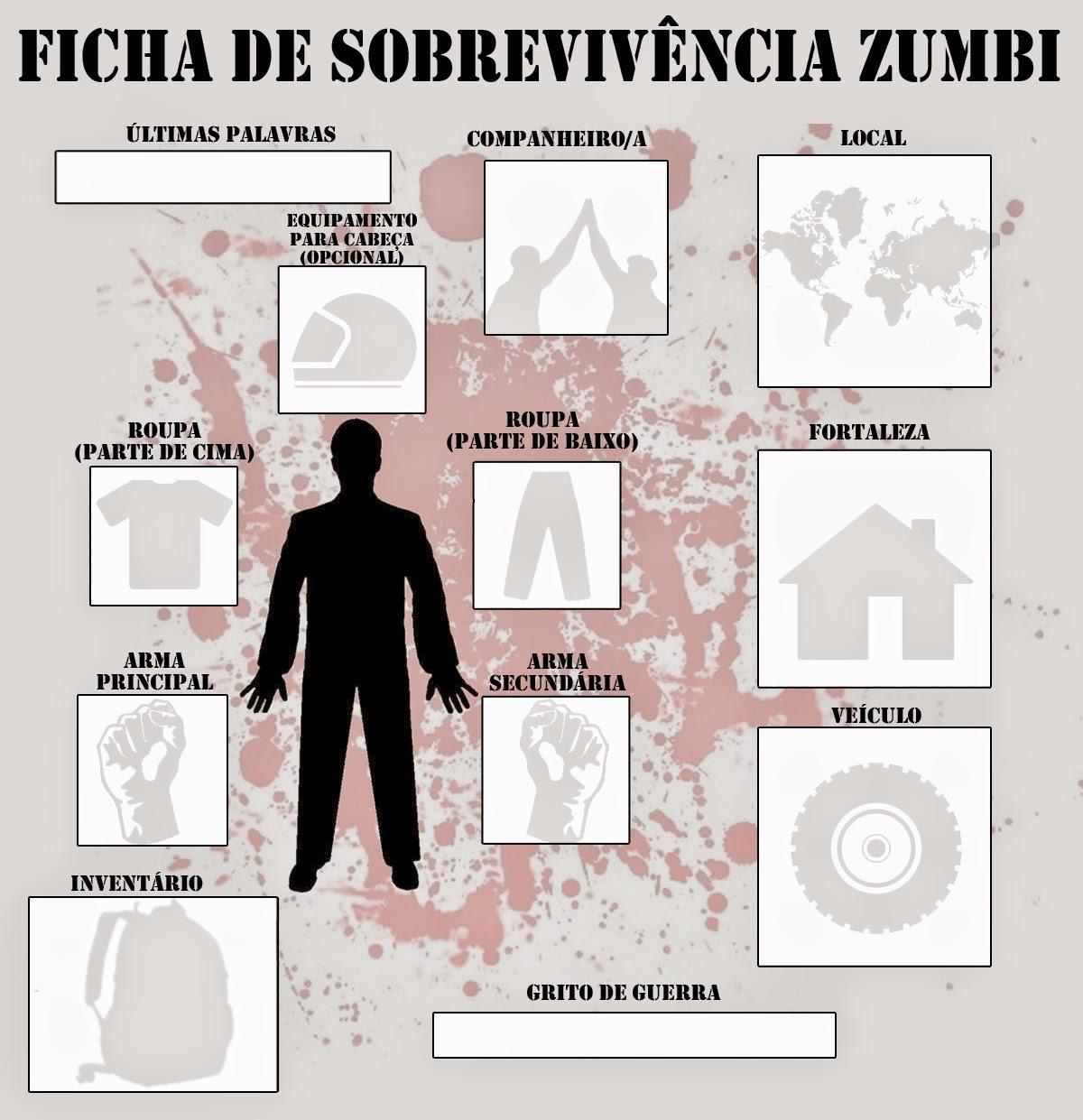 Puts Nem Ficha De Sobreviv 234 Ncia Zumbi