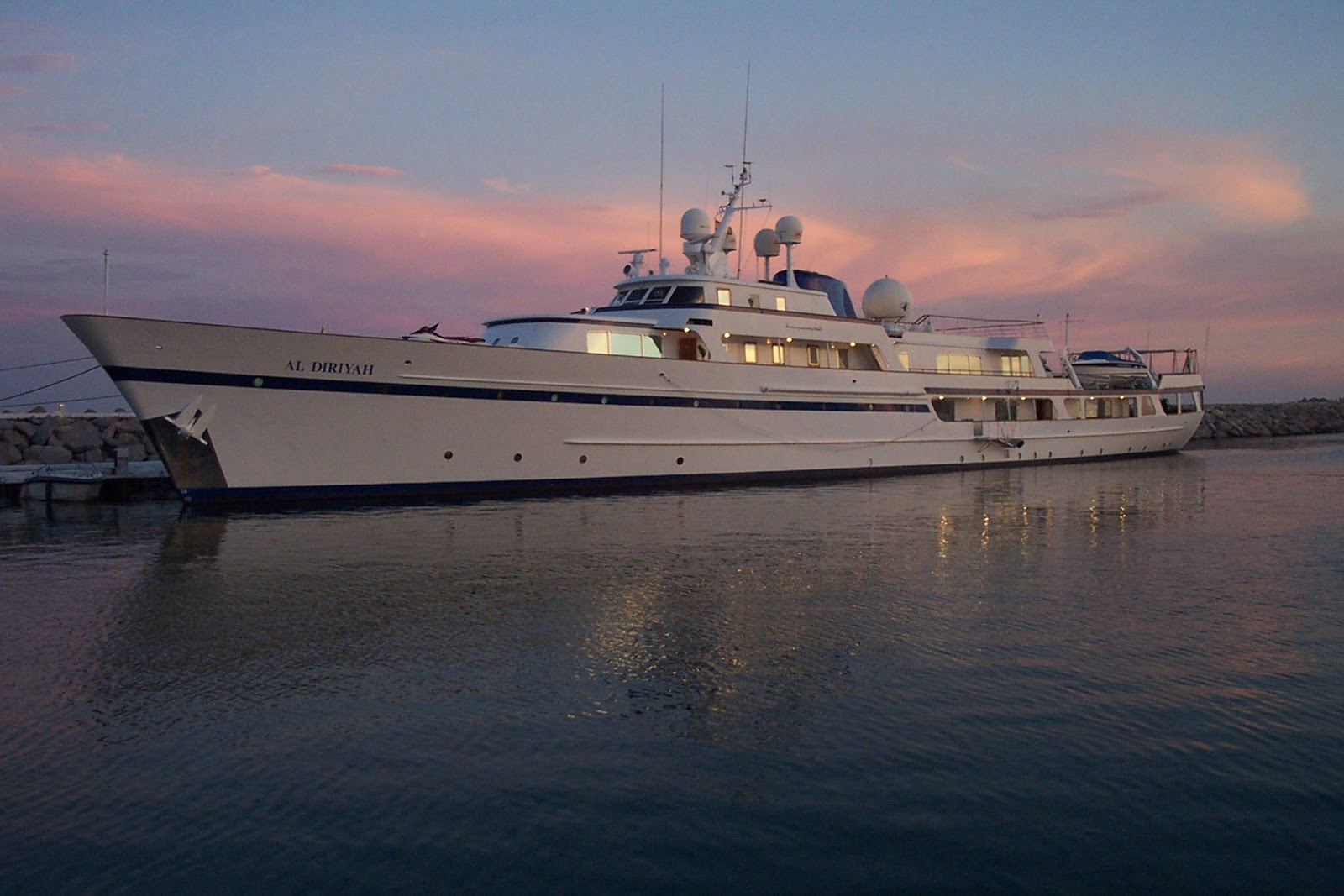 Superyacht AL DIRIYAH at Night