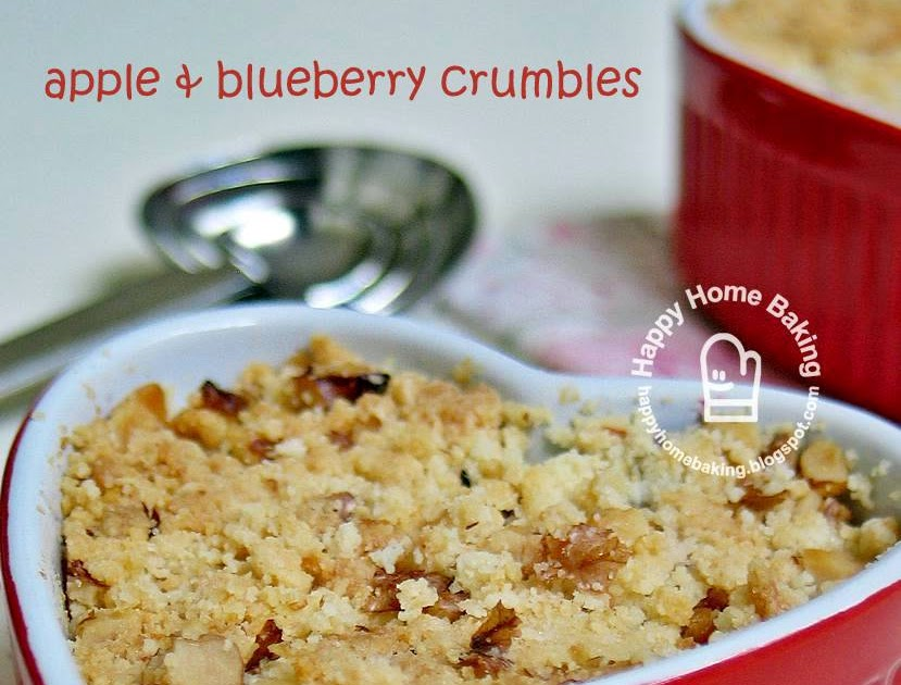 Happy Home Baking: apple and blueberry crumble
